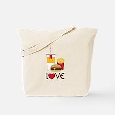 Love Fast Food Tote Bag