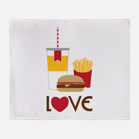 Love Fast Food Throw Blanket