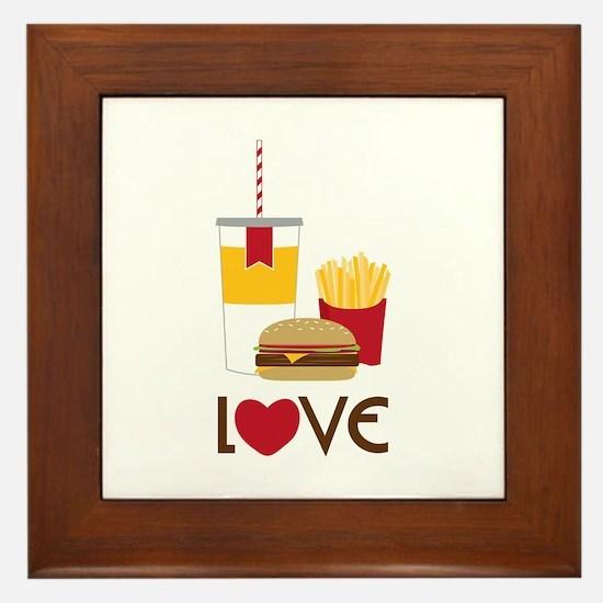 Love Fast Food Framed Tile