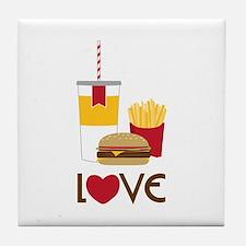 Love Fast Food Tile Coaster