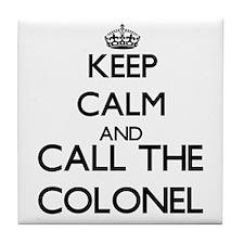 Cute Colonel Tile Coaster