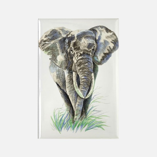 Watercolor Elephant Animal Art Magnets