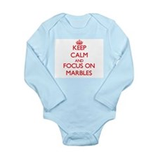 Keep Calm and focus on Marbles Body Suit