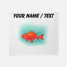 Custom Goldfish Throw Blanket