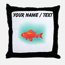 Custom Goldfish Throw Pillow