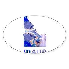 IDAHO MAP Decal