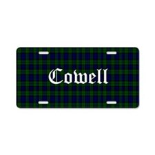 Cowell Aluminum License Plate