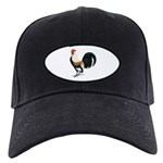 Dutch Bantam Rooster Black Cap