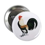 Dutch Bantam Rooster Button