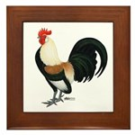 Dutch Bantam Rooster Framed Tile