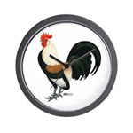 Dutch Bantam Rooster Wall Clock