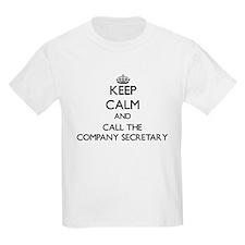 Keep calm and call the Company Secretary T-Shirt
