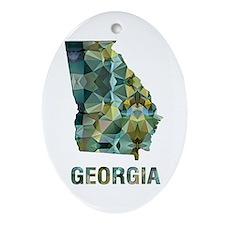 Cute Georgia state Ornament (Oval)
