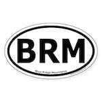 Blue Ridge Mountains Oval Sticker