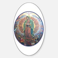 Virgen de Guadalupe Oval Decal