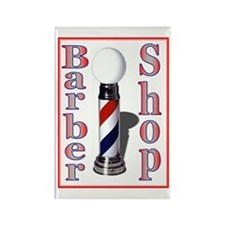 Barber Shop Logo Rectangle Magnet