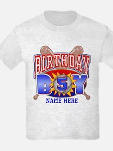 Baseball 5th Birthday T-Shirt