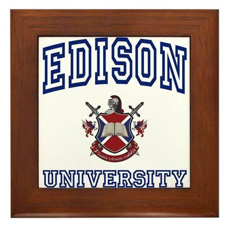 EDISON University Framed Tile