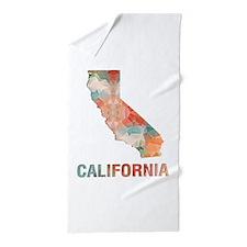 Unique State map Beach Towel