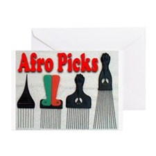 Afro Picks Greeting Cards (Pk of 10)