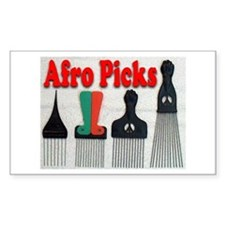 Afro Picks Rectangle Decal
