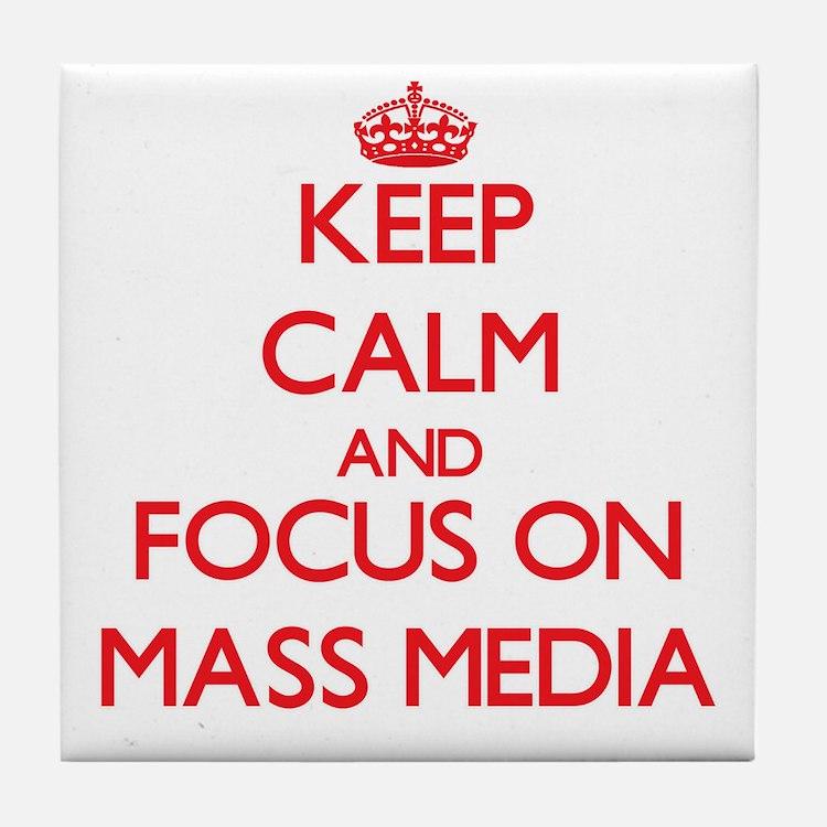 Cute Mass media Tile Coaster