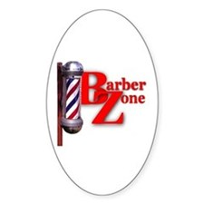 Barber Zone Oval Decal