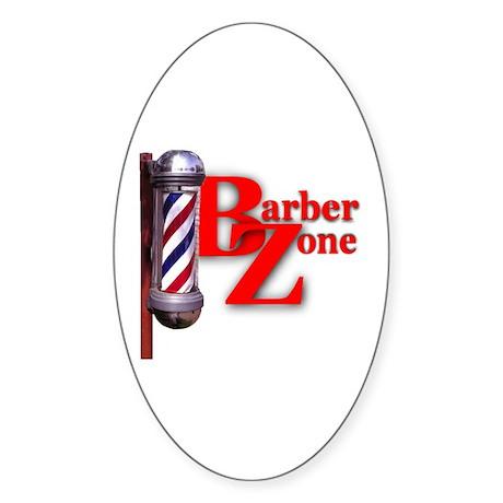 Barber Zone Oval Sticker