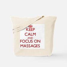 Cute I love massage Tote Bag