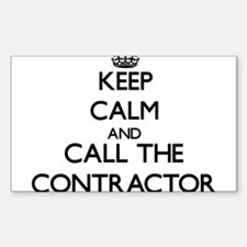 Keep calm and call the Contractor Decal