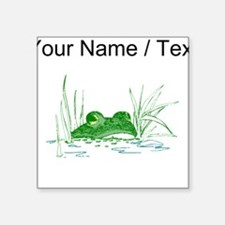 Custom Frog In Water Sticker