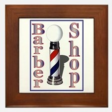 Barber Shop Framed Tile