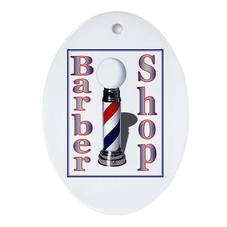 Barber Shop Oval Ornament