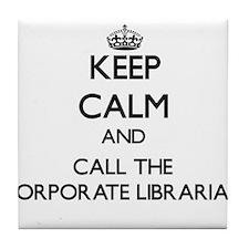 Unique Course librarian Tile Coaster