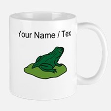 Custom Green Frog On Lilypad Mugs
