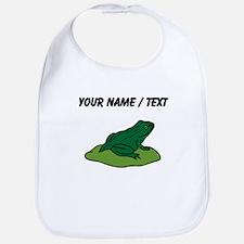 Custom Green Frog On Lilypad Bib