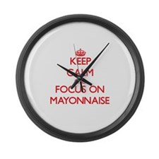 Cute Mayonnaise Large Wall Clock