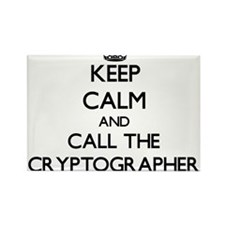 Keep calm and call the Cryptographer Magnets
