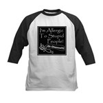 Allergic to Stupid People Kids Baseball Jersey