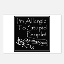 Allergic to Stupid People Postcards (Package of 8)