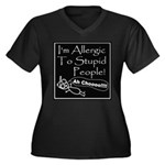 Allergic to Stupid People Women's Plus Size V-Neck