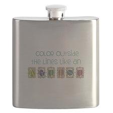 Color Outside Flask