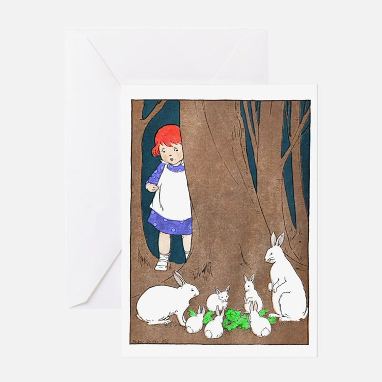 Little Red's Forest Friends Greeting Cards