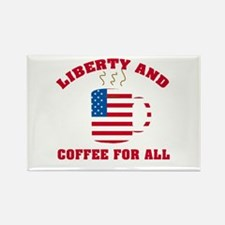 Liberty & Coffee For All Rectangle Magnet