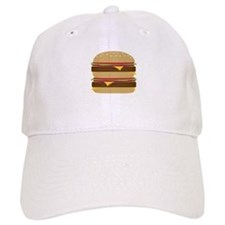 Double Burger Baseball Baseball Cap