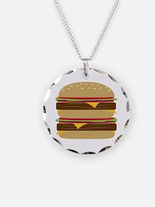 Double Burger Necklace