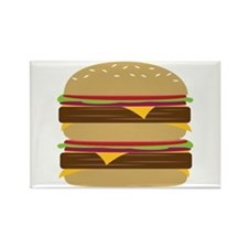 Double Burger Magnets