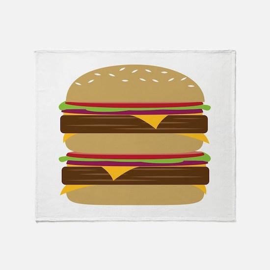 Double Burger Throw Blanket