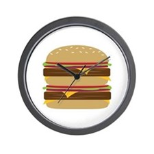 Double Burger Wall Clock