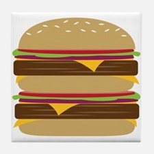 Double Burger Tile Coaster